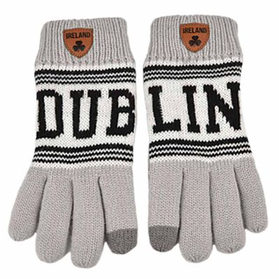 Irish Connexxion Limited Edition Dublin Knitted Gloves  Grey Colour