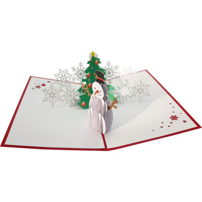 Christmas Scene Design 3-D Pop Up Deluxe Christmas Greeting Card