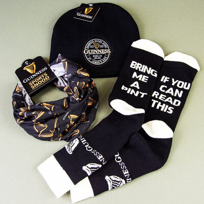 Official Guinness Men's Clothing Accessories Harp Design
