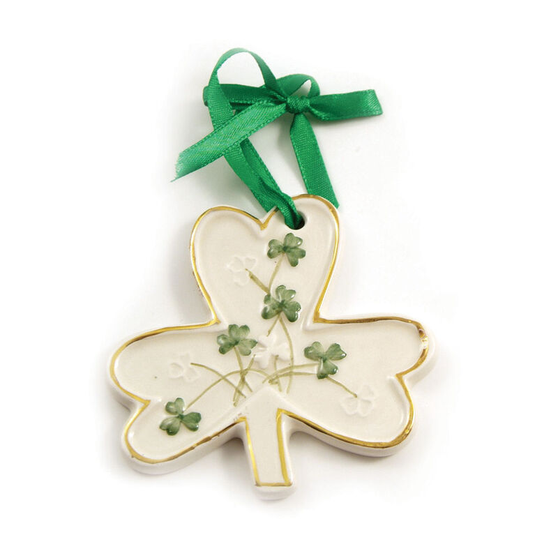 Watervale Parian China Hanging Decoration - Shamrock