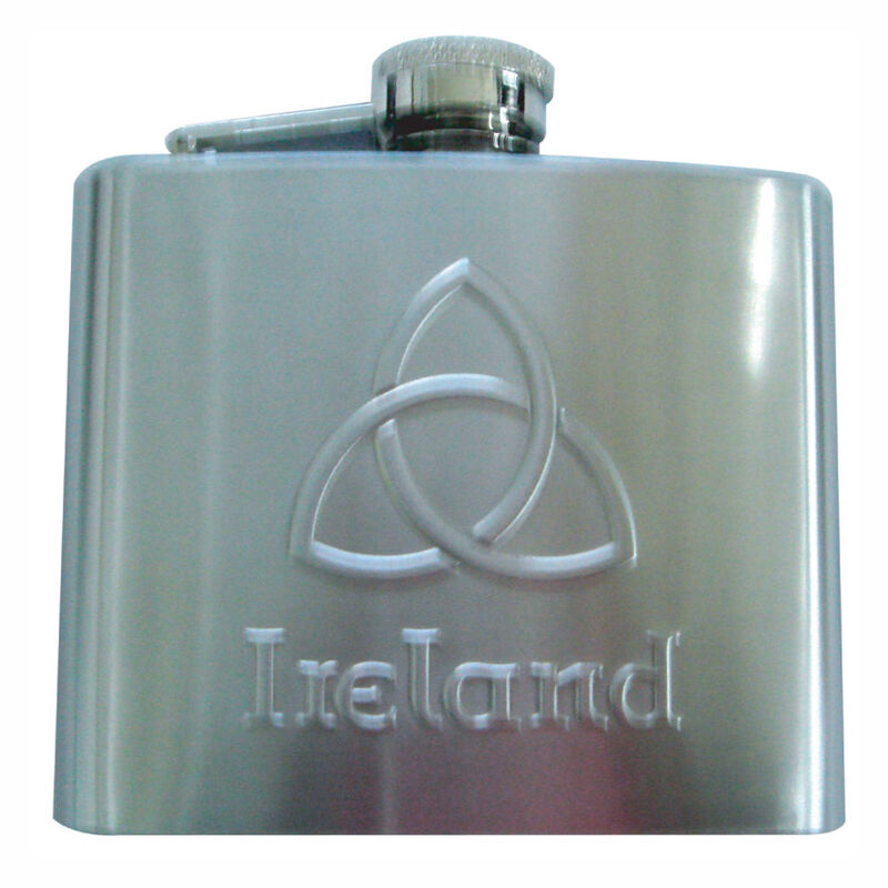 Stainless Steel Hip Flask With Trinity Knot Design