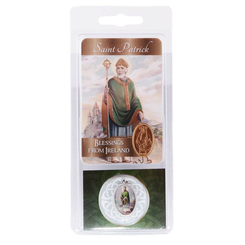 Saint Patrick Gift Picture Medal On Card