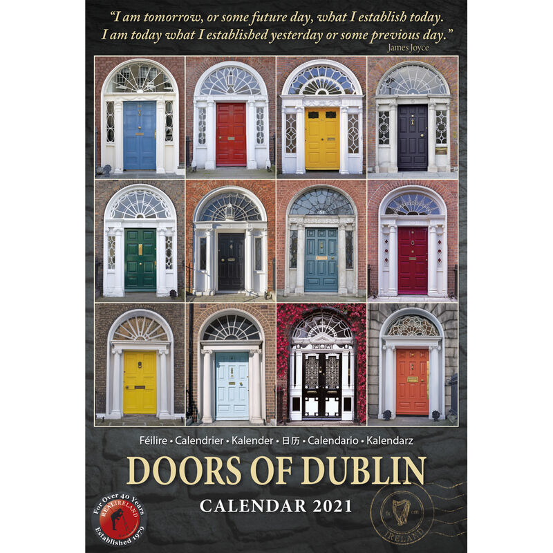 Slim Doors of Dublin 2021 Calendar by Liam Blake