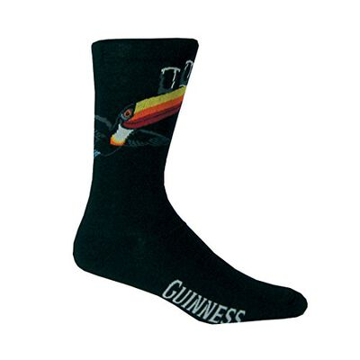 Black Guinness Socks With Flying Toucan And Guinness Print