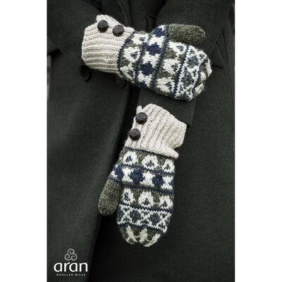 100% Merino Wool Fair Isle Pattern Designed Mitten