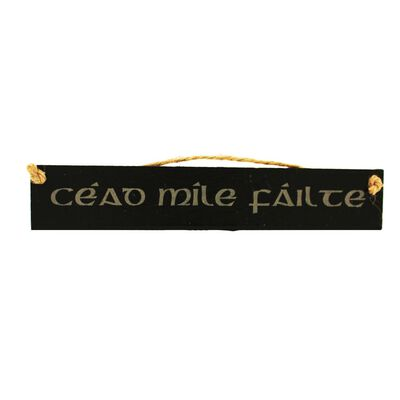 Irish Slate Rectangular Hanging Plaque With Cead Mile Failte Design