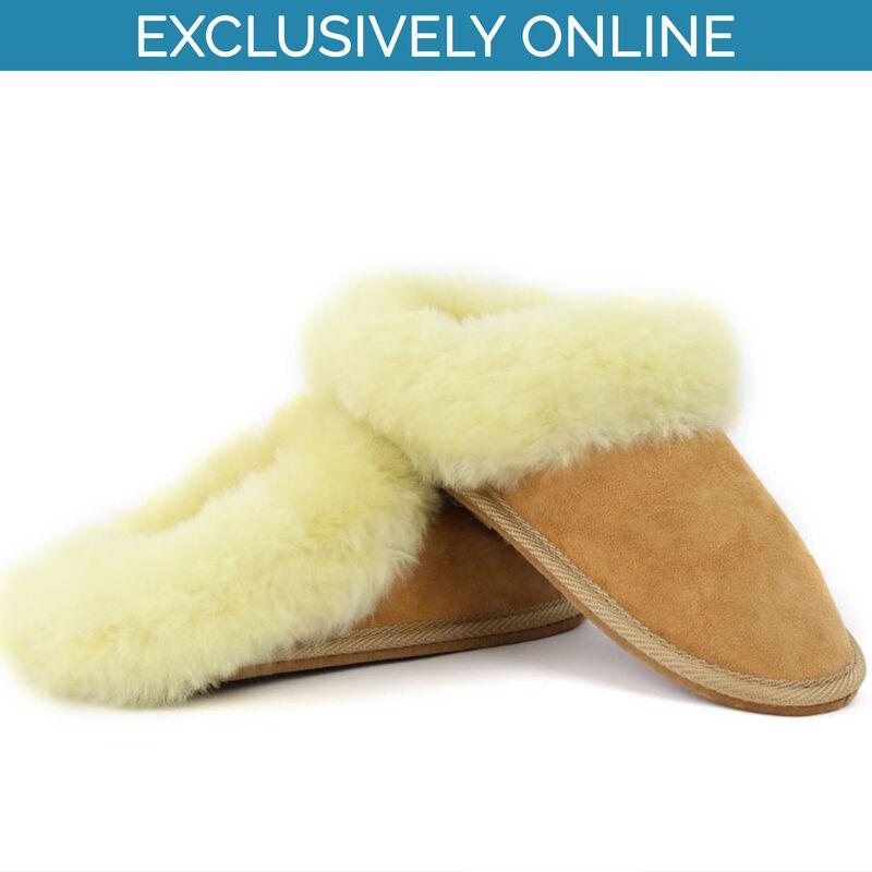 Yoko Wool Sheepskin Mule Ladies Fur Slippers, Brown Colour