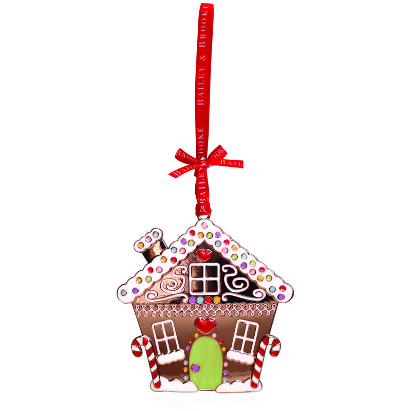 Tipperary Crystal Decoration With Sparkling Gingerbread House Design