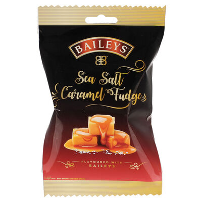 Original Baileys Flavoured Unique Creamy Luxury Sea Salt Caramel Fudge Bag 110G