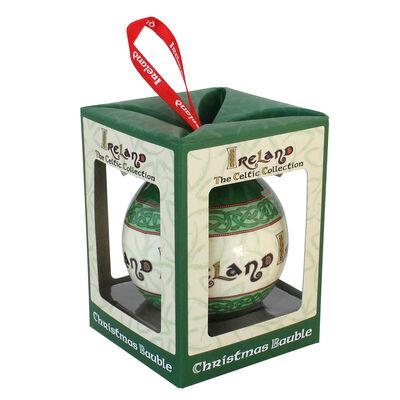Celtic Collection Christbaumkugel mit irischem Segensspruch