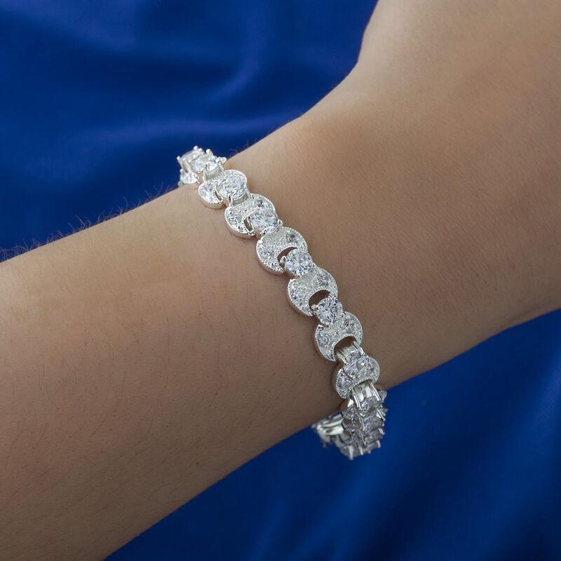 Newbridge Silverware Silver Plated Bracelet With Clear Stones