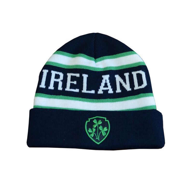 Lansdowne Designed Navy  White And Green Ireland Knitted Kids Hat