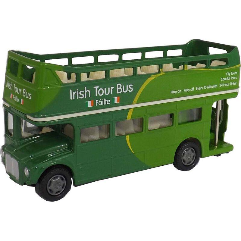 Green Irish Open Top Tour Bus