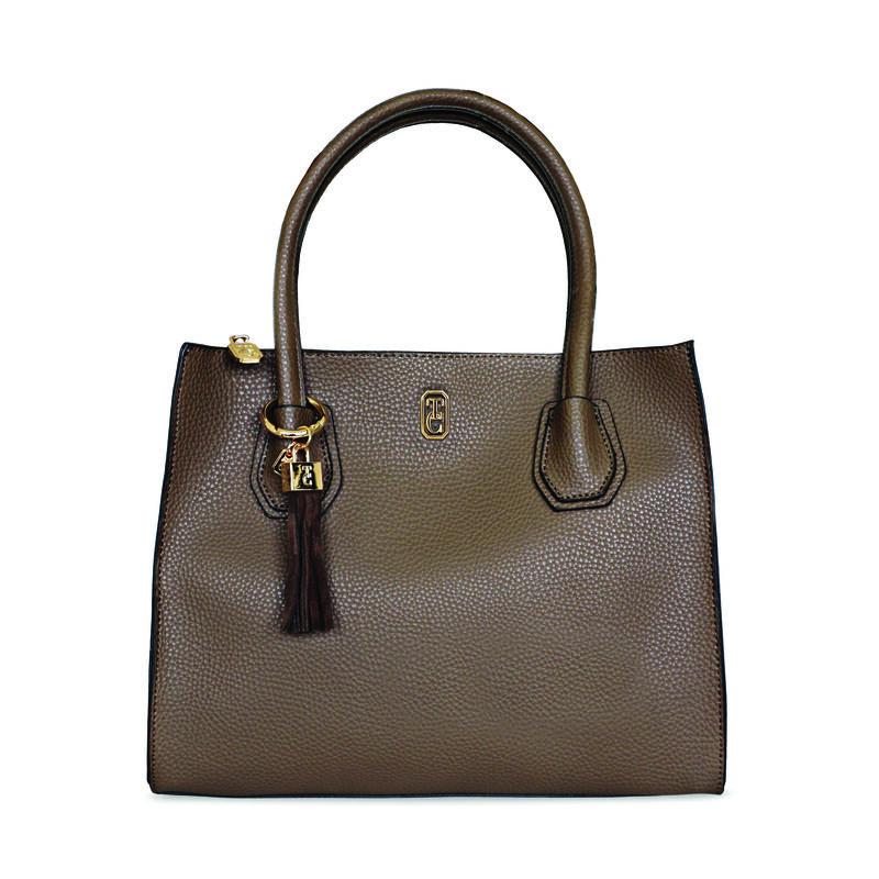 Tipperary Crystal Shanghai Handbag, Brown Colour
