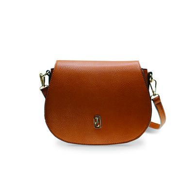 Tipperary Crystal Kensington Saddle Bag, Brown Colour