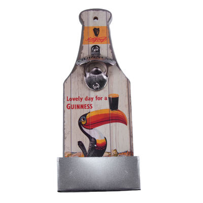 Guinness Bottle Opener And Catcher With Extra Stout Label Design