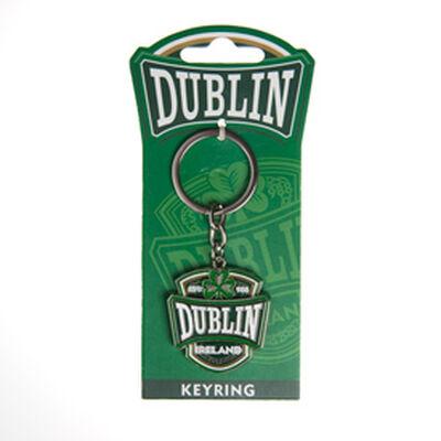 Metall-Schlüsselanhänger mit dem Universitäts-Wappen Dublin