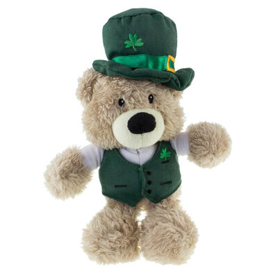 Paddy Bear Irish Designed Teddy Bear With Green Waistcoat and Leprechaun Hat