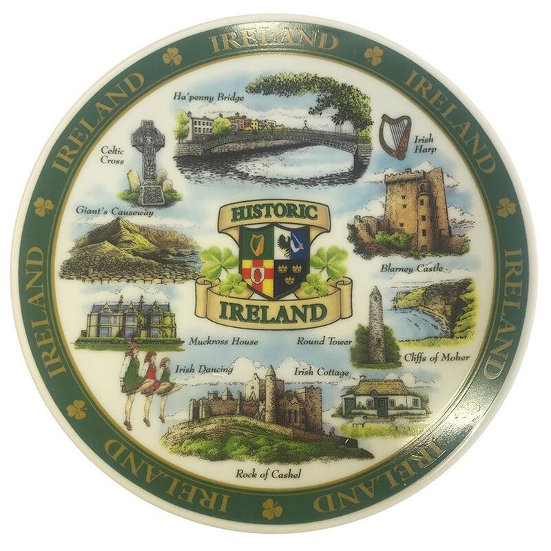 Ireland Designed Ceramic 15Cm Plate Of Famous And Historic Landmarks