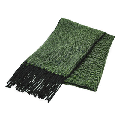 The Quiet Man Green Herringbone Scarf