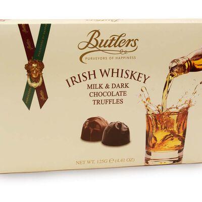 Butlers Trüffel mit irischem Whisky  Sortiment aus Milchschokolade und dunkler Schokolade  125 g