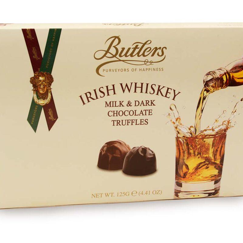 Butlers Irish Whiskey Milk and Dark Chocolate Truffles Selection  125G