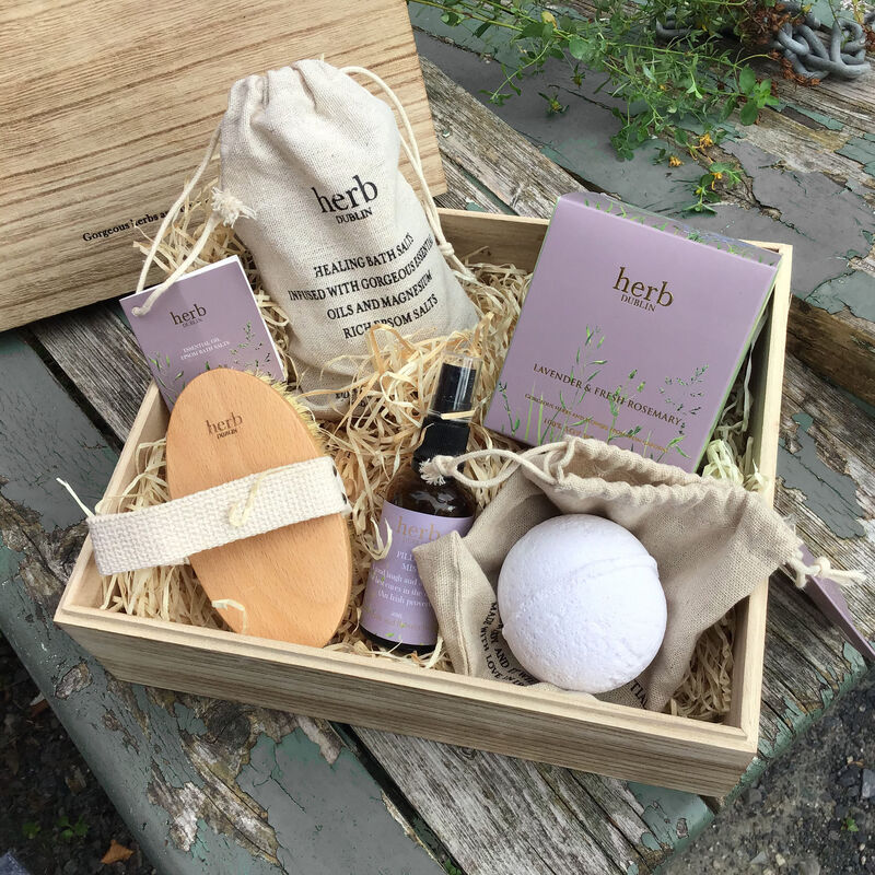 Herb Dublin Wellness Hamper Gift Set With Luxury Home Spa Products