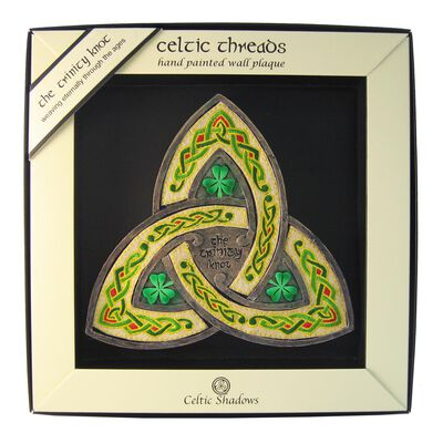 Celtic Threads Hand Painted Trinity Knot Plaque With Colourful Celtic Artwork