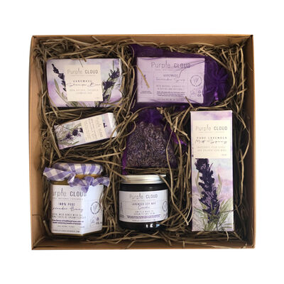 Purple Cloud Pure Natural Lavender Complete Collection Hamper