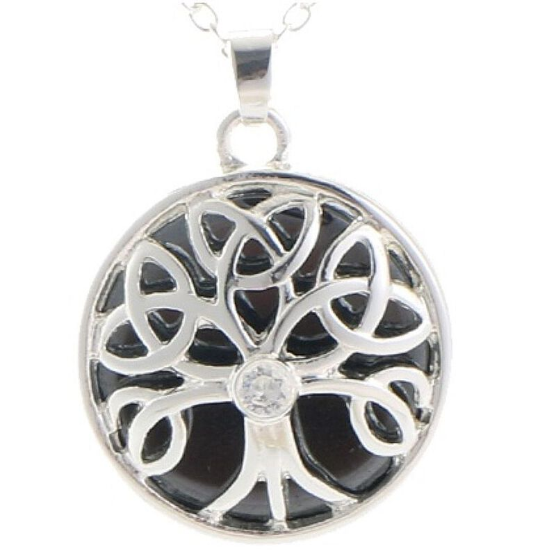 Mystic Ireland Hematite Semi Precious Stone Celtic Energy Pendant