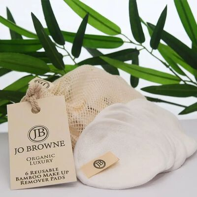 Jo Browne Organic Luxury Reusable Bamboo Make Up Remover Pads