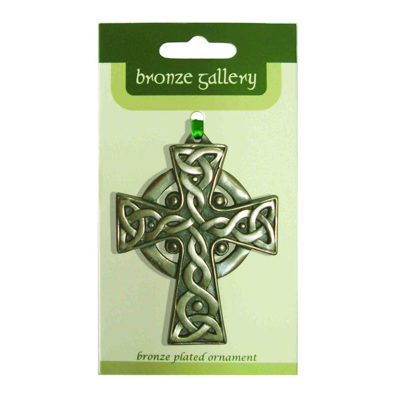 Bronze Gallery High Cross Hanging Decoration