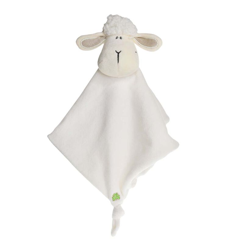 Daisy The Irish Sheep Baby Comforter With Shamrock Design  Cream Colour