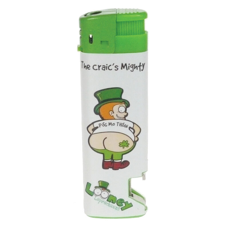 Electronic Lighter With Looney Leprechaun Craic Is Mighty Design