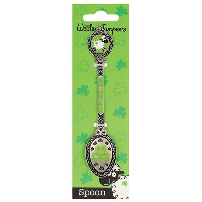 Irish Wooley Jumpers Metal Collectible Spoon With Sheep And Shamrock Design