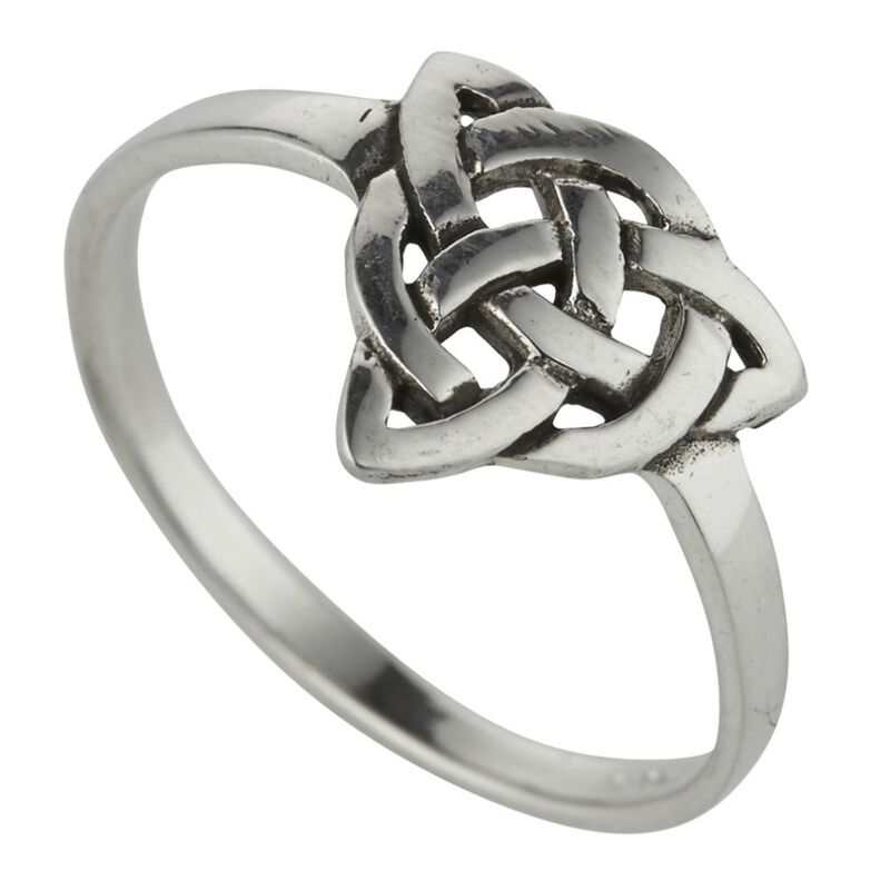 Hallmarked Sterling Silver Celtic Trinity Knotwork Design Ring