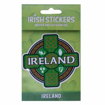 Irland-Sticker mit Keltischem Kreuz