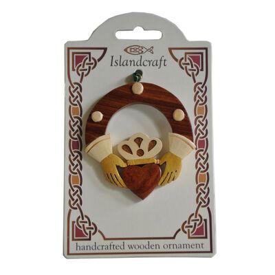 Irische Claddagh Hängedekoration aus Holz