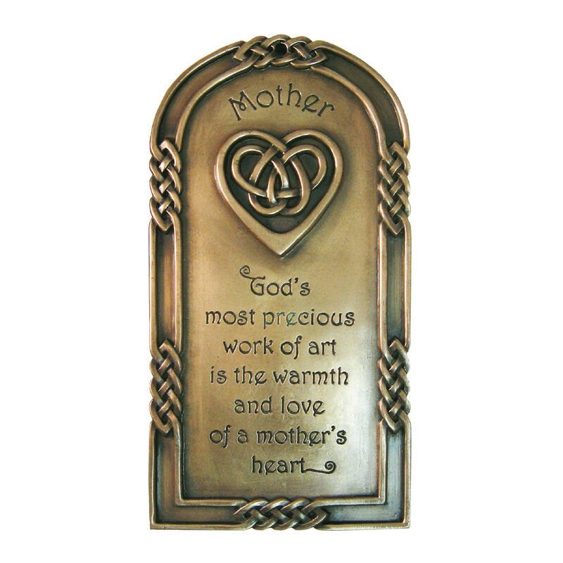Bronze Plated Wall Plaque With A Mother Blessing Design 21cm X 13cm