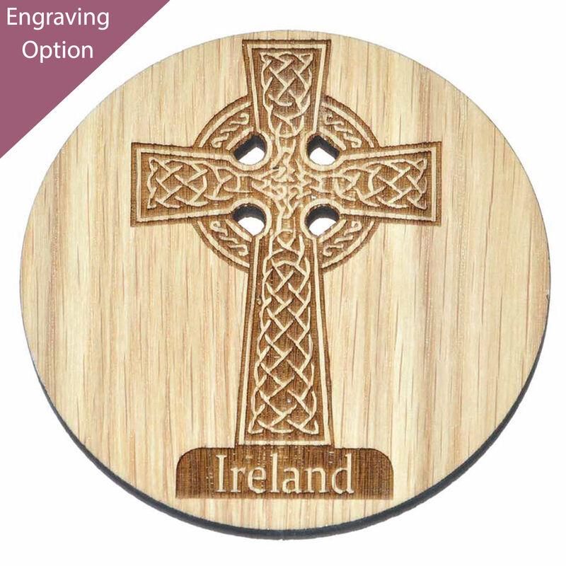 Irish Wooden Designed Coaster With Celtic Ireland High Cross Design