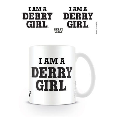 Derry Girls Mug With 'I Am A Derry Girl' Text Design