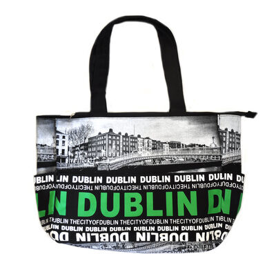 Robin Ruth Ha'Penny Bridge Photo Design Large Canvas Style Bag
