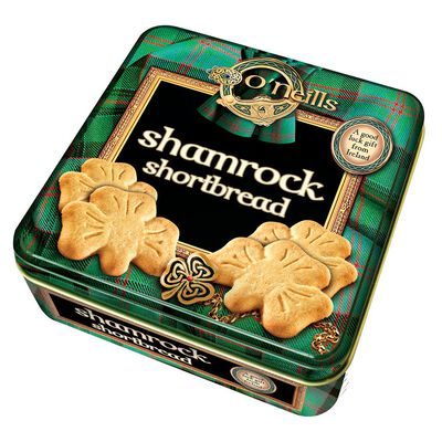 O'Neill's Shamrock Shaped Shortbread In A Tin 80G