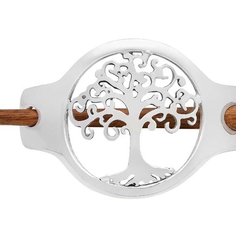 Silver Plated Tree Of Life Design Small Hairslide