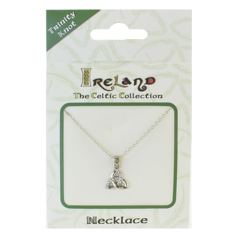 Versilberter Celtic Collection-Anhänger mit keltischem Dreiecksknoten in Diamant-Optik