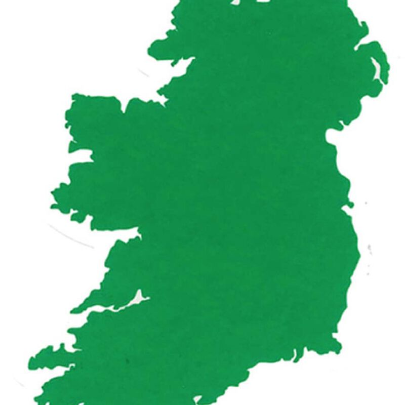 Collectable Map Of Ireland Design Sticker  Suitable For Outdoor Use
