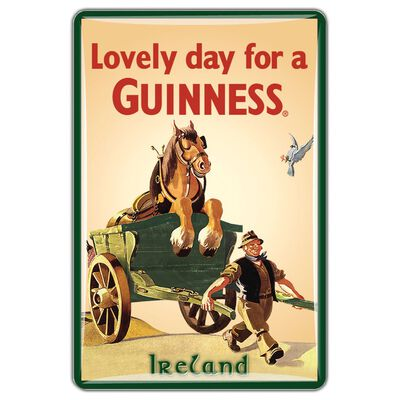 Guinness Official Merchandise Quality Epoxy Magnet With Horse and Cart Design