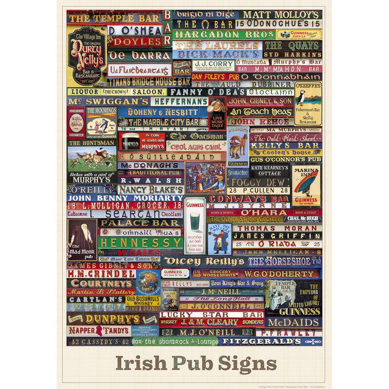 Irish Pub Signs Poster