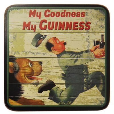 Nostalgic Guinness Coaster With My Goodness My Guinness Lion Design