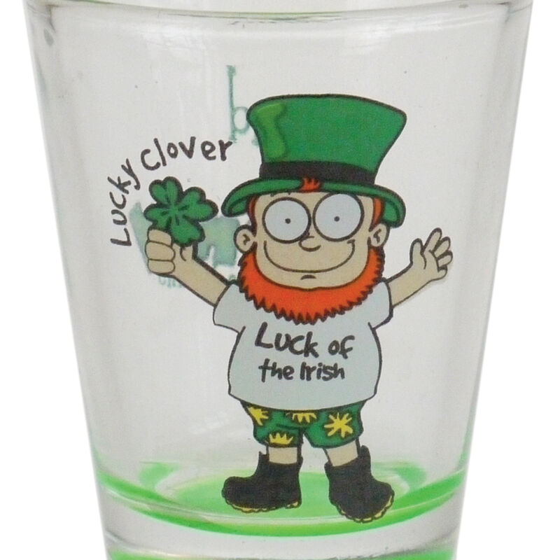 Loose Glass Shot Glass With Lucky Looney Lep Design